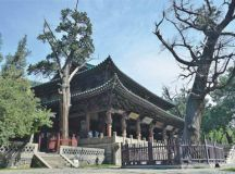centuries old buildings and trees at jinci temple popov maxim