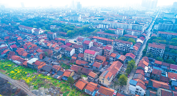 the shantytown on the right bank of changde s yuanshui