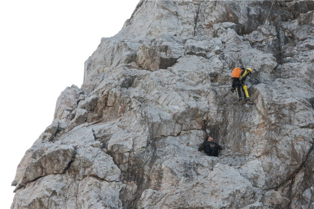 Poet seeking inspiration stranded on cliff for hours