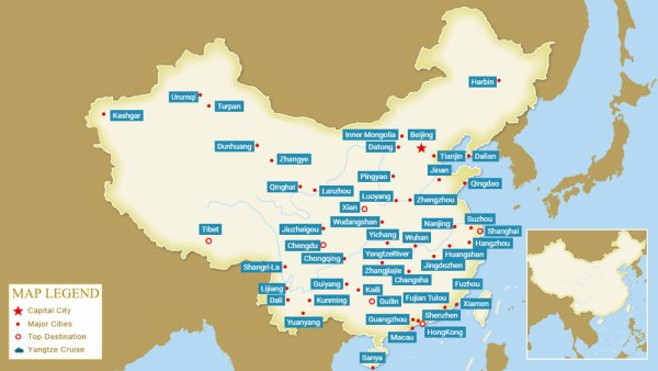 2020 China City Maps Maps of Major Cities in China