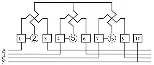 three phase static watt hour meter, 100V~415V