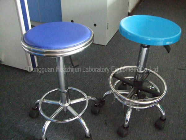 revolving chair without wheels folding boat chairs for sale pneumatic adjustable lab stool round swivel type back / arms