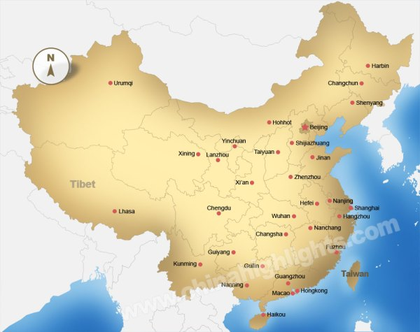 China Map Maps of China39s Top Regions Chinese Cities and
