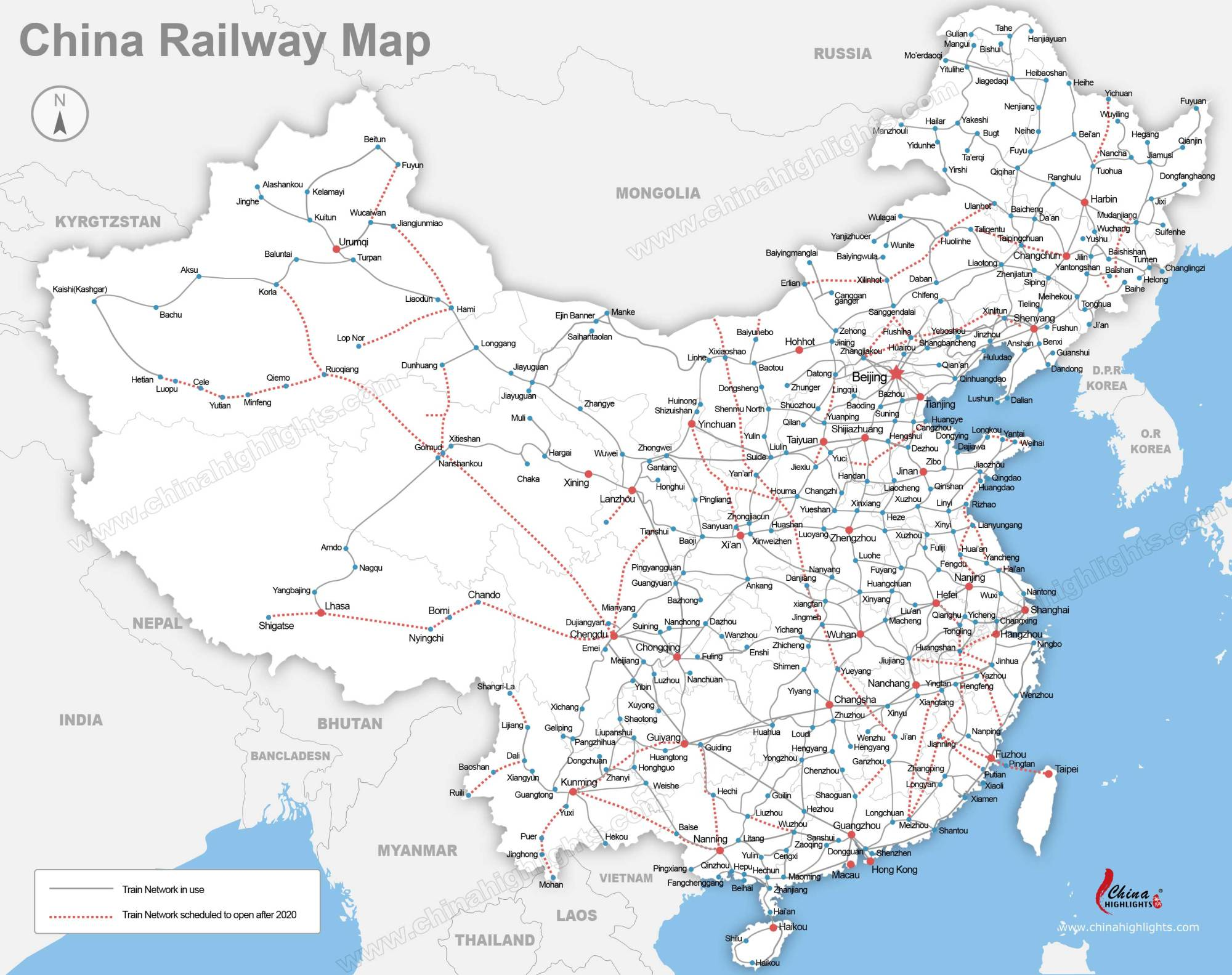 hight resolution of www chinahighlights com image map china railway map big jpg