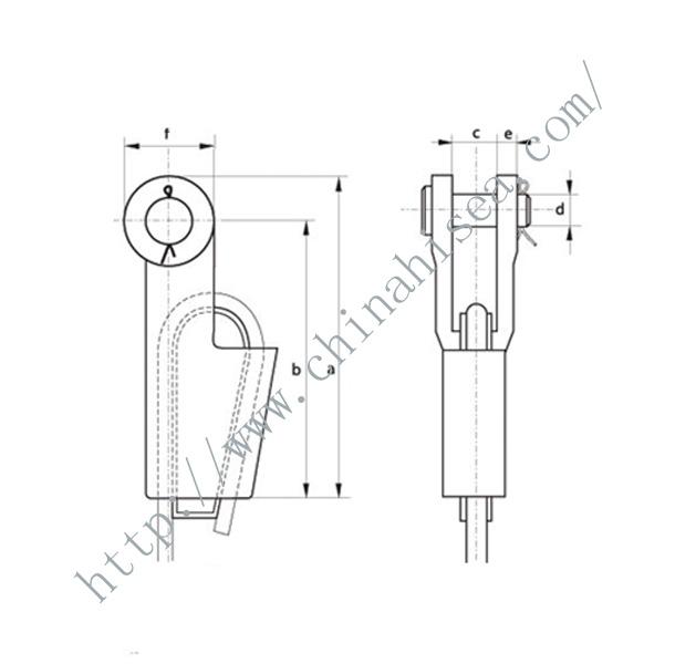 Cast Steel Open Wedge Socket,Cast Steel Open Wedge Socket