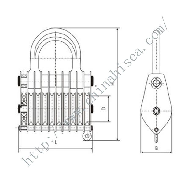 10 Wheels Sheaves Crane Pulley Blocks,10 Wheels Sheaves