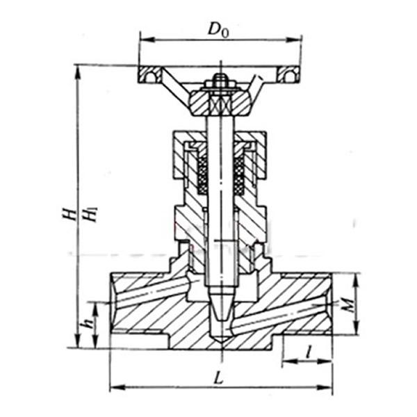 External Thread Stainless Steel Globe Valve,External