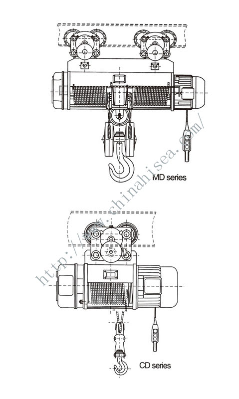 CD1.MD1 Type Wire Rope Electric Hoist,CD1.MD1 Type Wire