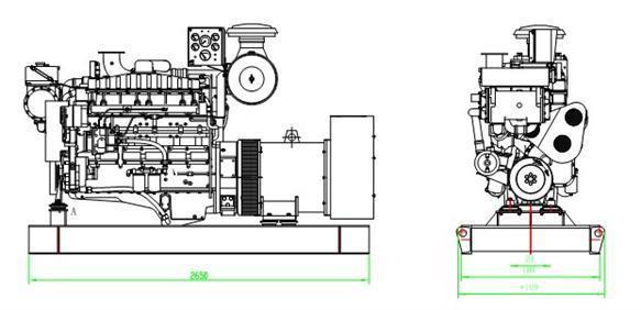 200kw marine diesel generator,200kw marine diesel