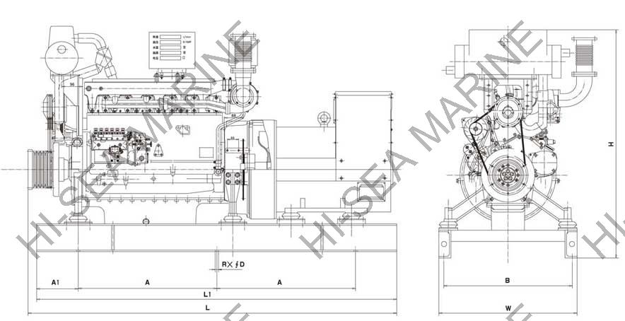 DEUTZ marine diesel generator,DEUTZ marine diesel