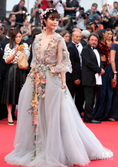 """CANNES, FRANCE - MAY 14:  Actress Fan Bingbing attends Premiere of """"Mad Max: Fury Road"""" during the 68th annual Cannes Film Festival on May 14, 2015 in Cannes, France.  (Photo by Gisela Schober/Getty Images)"""
