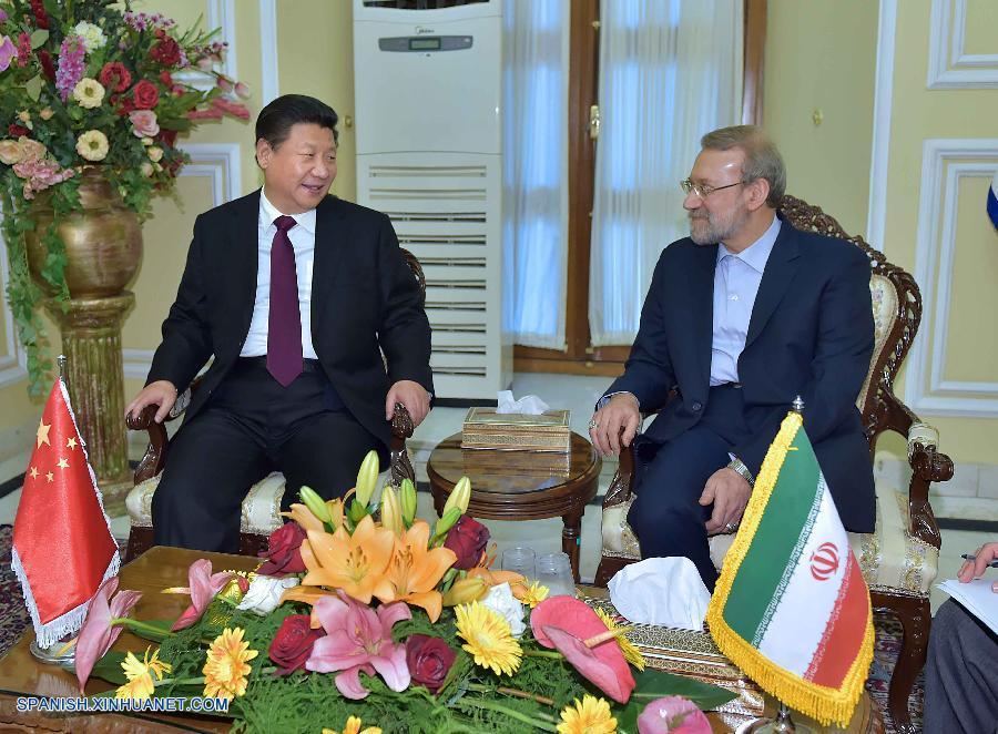Presidente chino y titular de Parlamento iraní conversan sobre cooperación