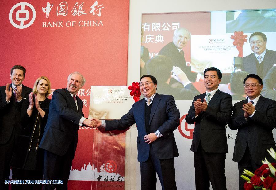 Apertura de sucursal de Banco de China en Austria, prueba de lazos económicos más fuertes