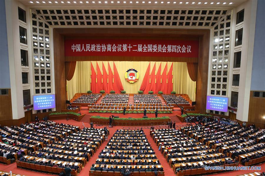 Máximo órgano asesor político de China arranca clausura de sesión anual