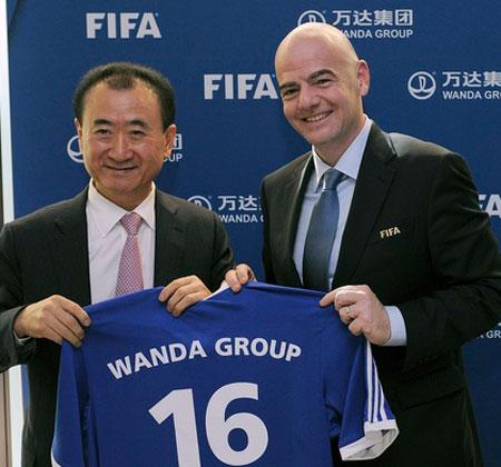Wanda de China firma contrato de patrocinio con FIFA