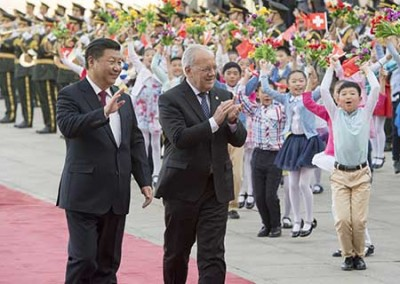 CHINA-BEIJING-XI JINPING-SWITZERLAND-WELCOMING CEREMONY (CN)