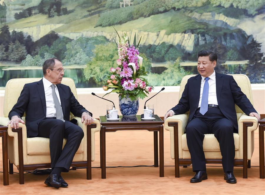 Presidente chino se reúne con ministro de Relaciones Exteriores ruso