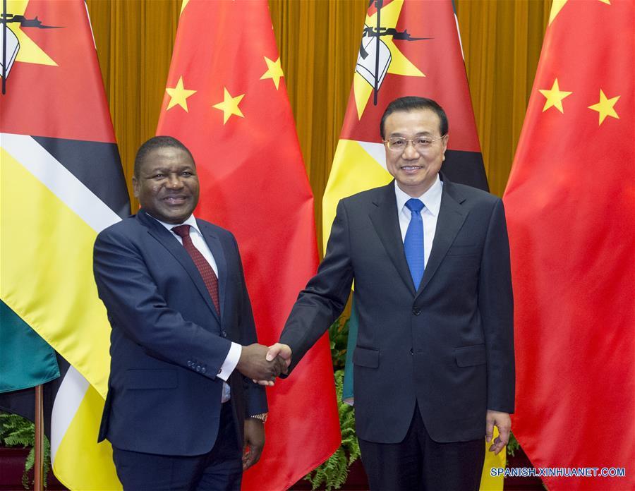 PM de China se reúne con presidente de Mozambique