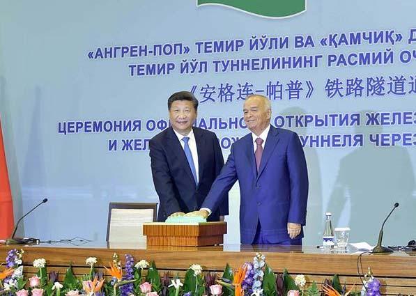 Líderes chino y uzbeko elogian inauguración de mayor túnel ferroviario de Asia Central