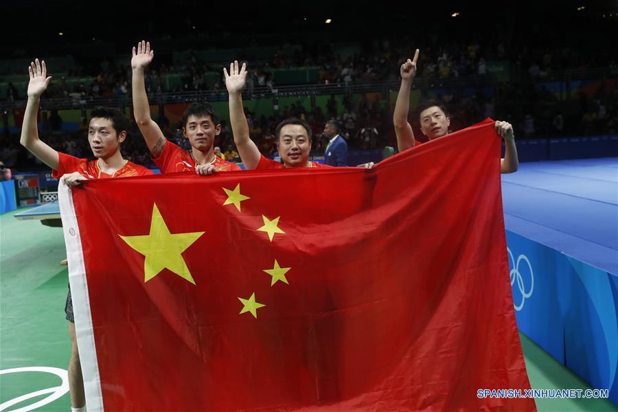 Río 2016: China gana medalla de oro en tenis de mesa por equipos masculino