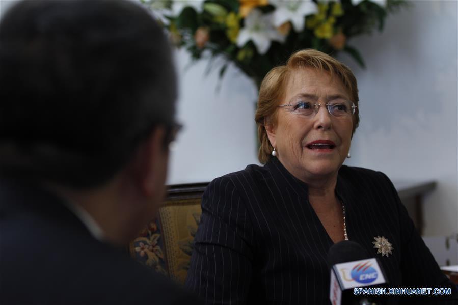 """ENTREVISTA: Los lazos que unen a Chile y China conforman """"una relación estratégica"""", dice Bachelet"""