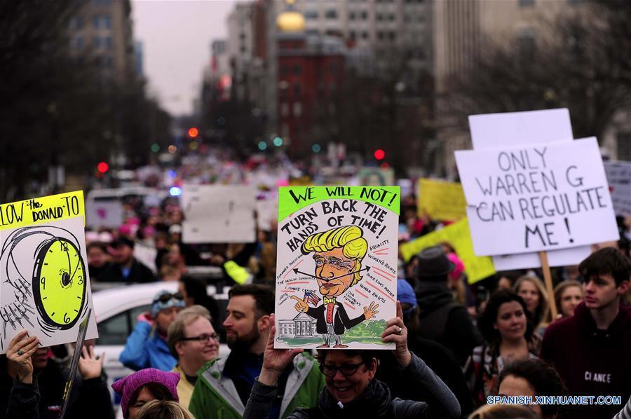 """""""Marcha de las Mujeres"""" en Washington D.C."""