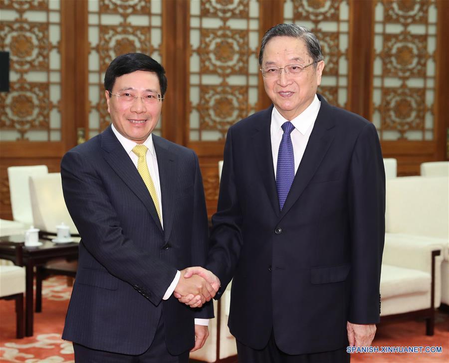 Máximo asesor político chino se reúne con viceprimer ministro vietnamita