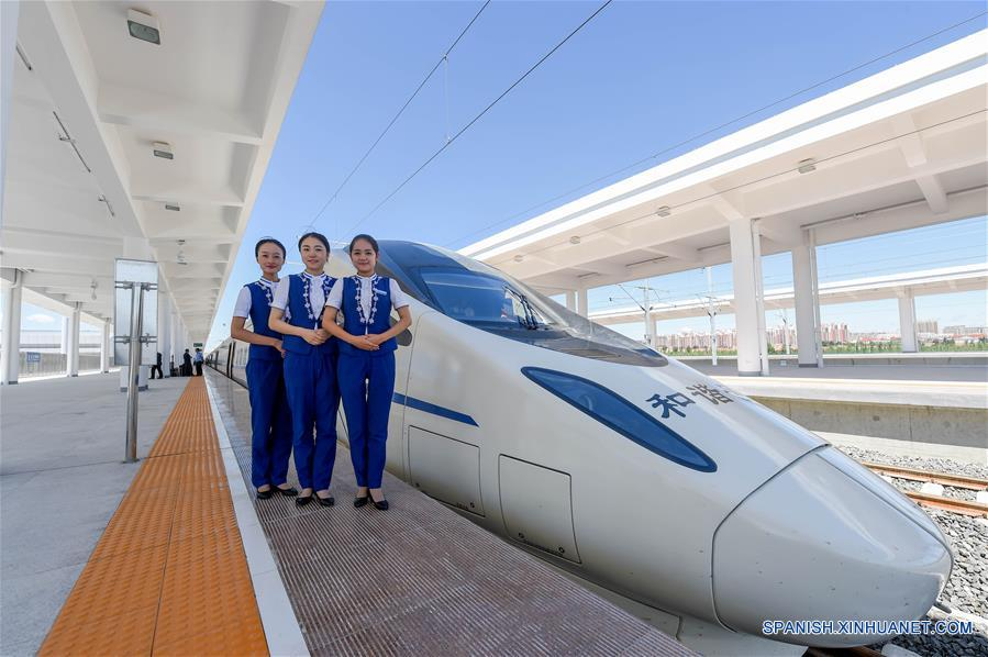Primer tren de alta velocidad en la Región Autónoma de Mongolia Interior comenzó operaciones