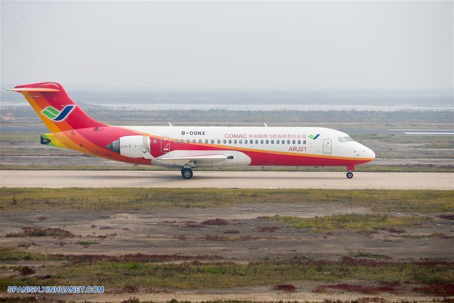Avión producido en China con sistema de navegación BeiDou completa vuelo de prueba