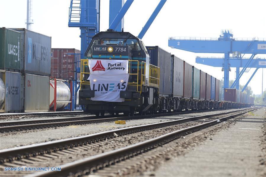 Primer tren de carga China-Bélgica desde puerto chino de Tangshan llega a Amberes