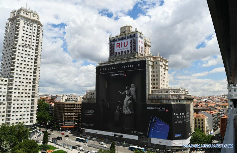 Huawei bate en España Récord Guinness de valla publicitaria más grande del mundo