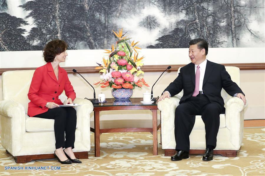 Presidente chino se reúne con directora general de Unesco