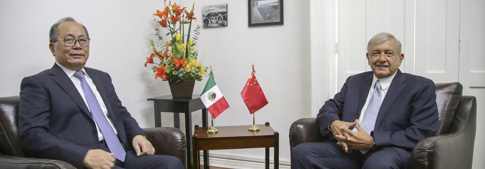AMLO se reúne con Embajador de China en México Qiu Xiaoqi