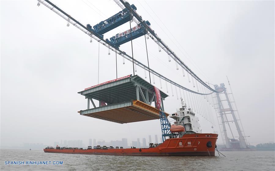 Puente colgante de dos pisos más largo del mundo se completará en 2019