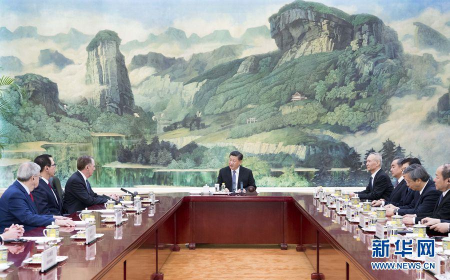 Presidente chino se reúne con representante comercial y secretario del Tesoro de Estados Unidos