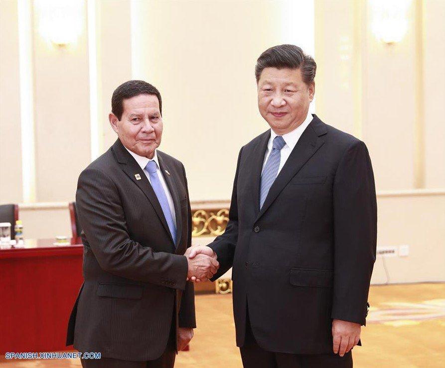 Presidente chino se reúne con vicepresidente de Brasil
