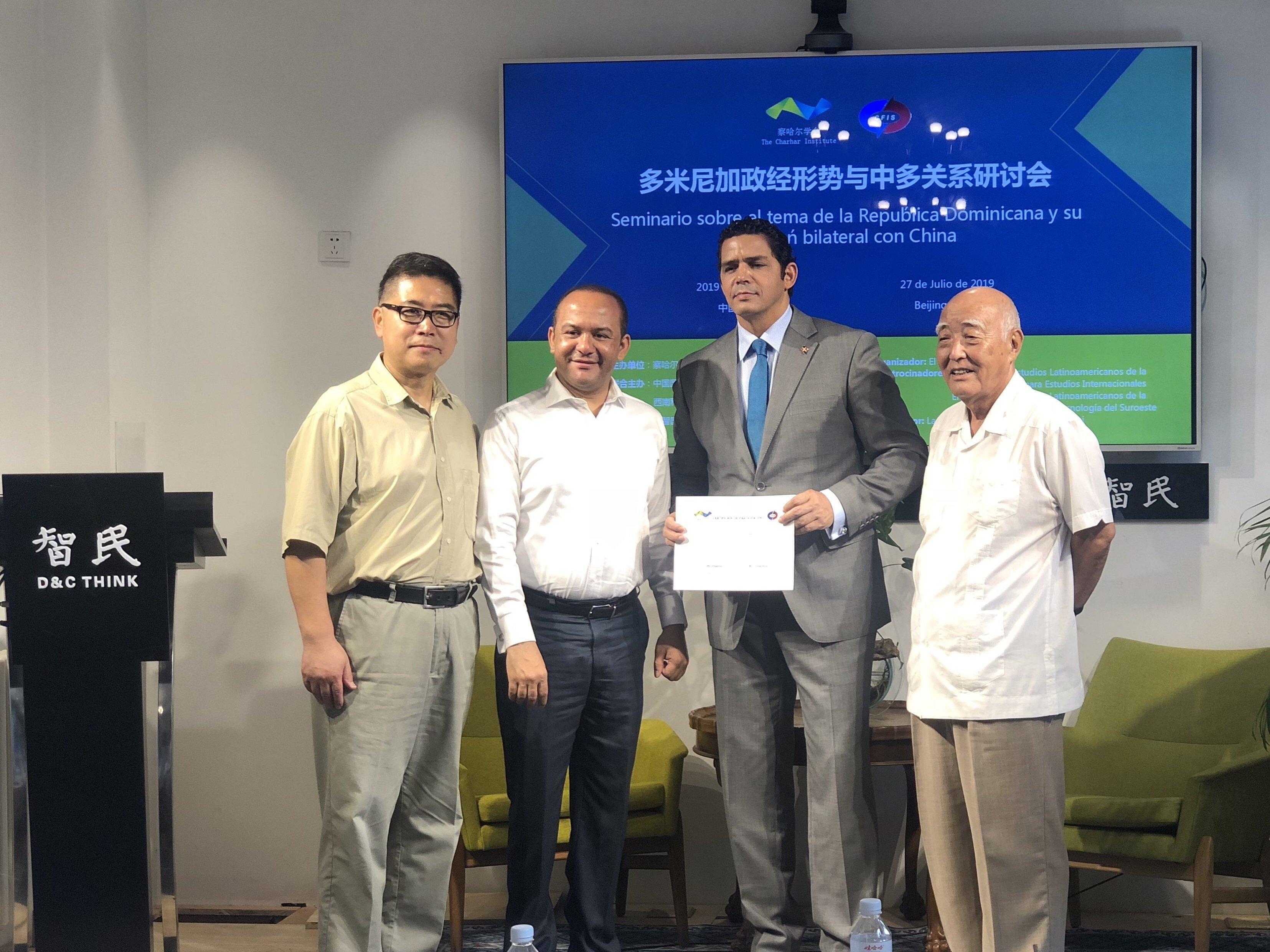 Destacan confianza alcanzada entre China y República Dominicana