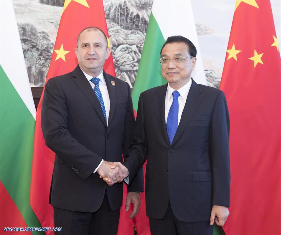 Primer ministro chino se reúne con presidente búlgaro