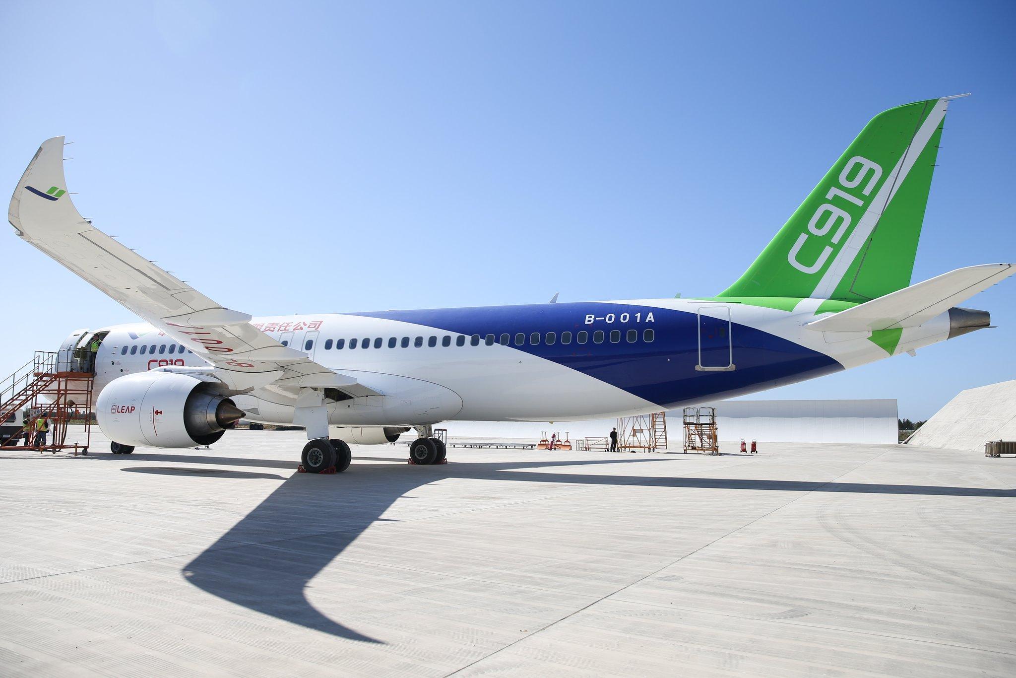 Planean operación de vuelos comerciales de pasajeros de avión C919 chino en 2021