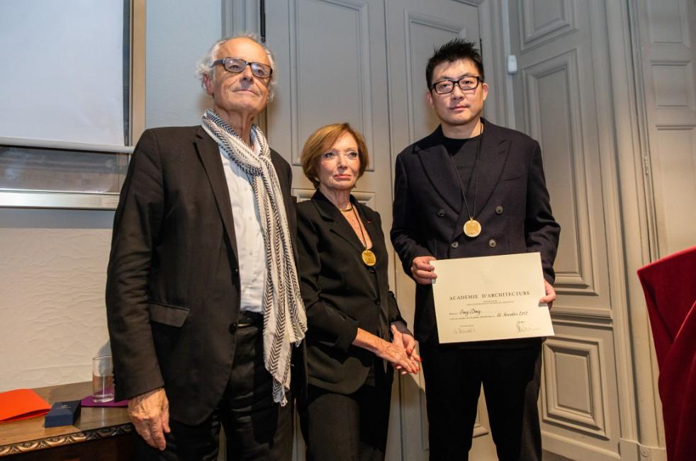 Arquitecto chino Dong Gong se convierte en miembro de Academia de Arquitectura de Francia