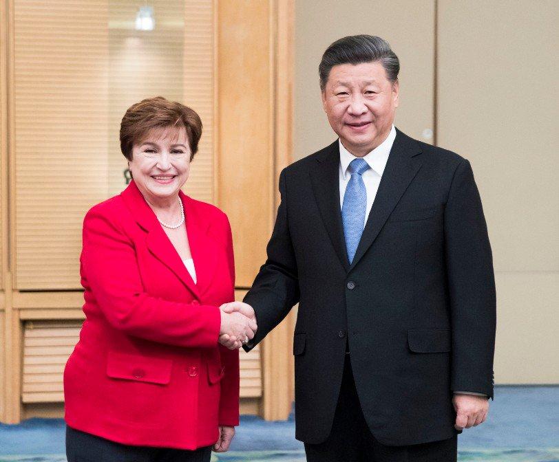 Presidente Xi se reúne con directora gerente del FMI