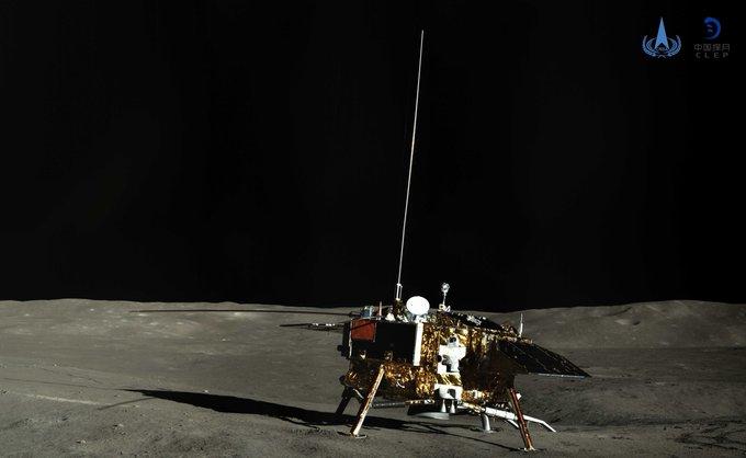 Reanuda operación sonda china Chang'e-4 en 21° día lunar