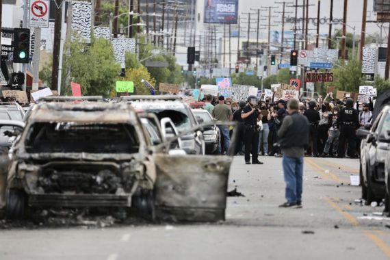 Los Ángeles en estado de emergencia ante violencia de protestas por muerte de George Floyd