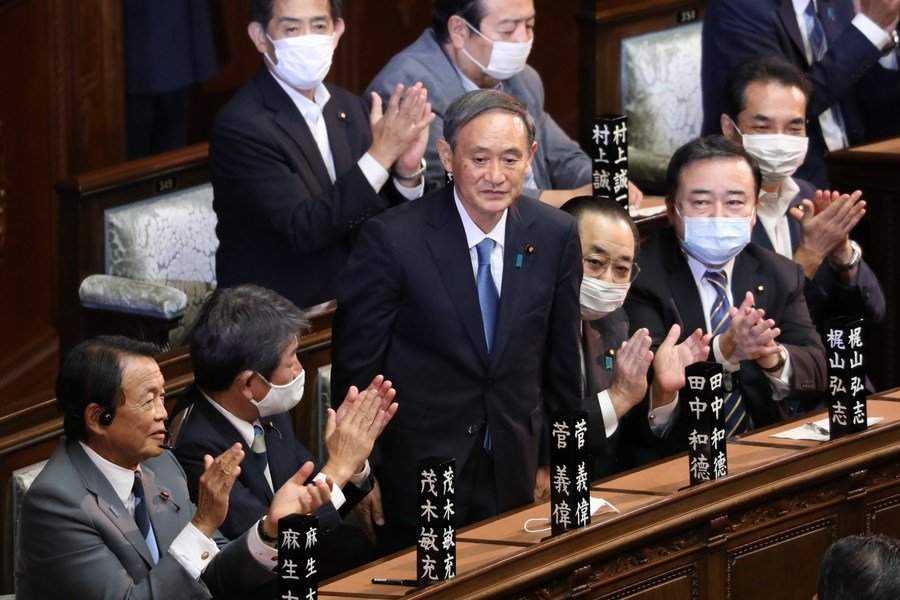 Xi felicita a Suga por su elección como primer ministro de Japón
