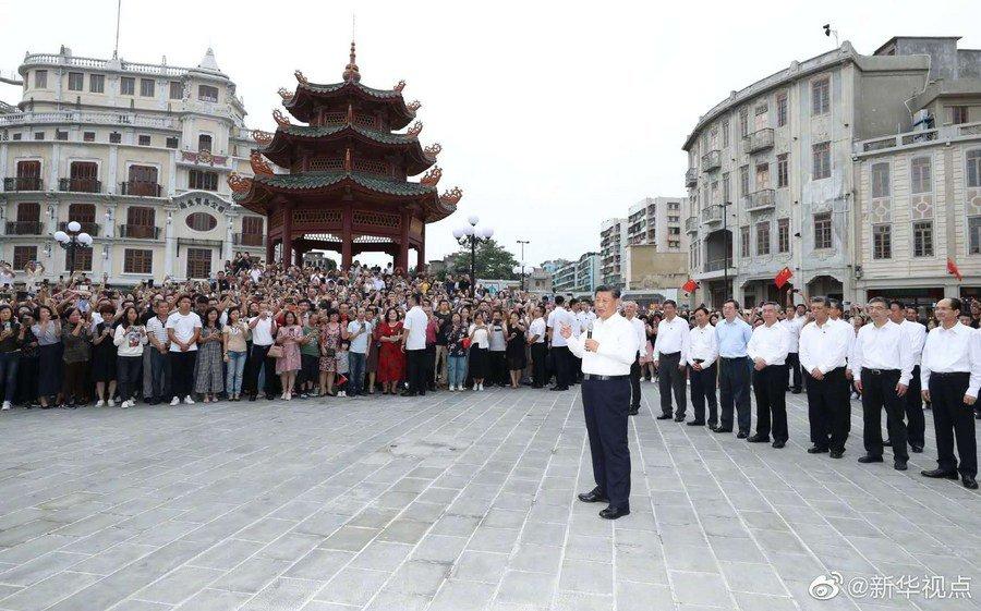 Xi inspecciona ciudad meridional china de Shantou
