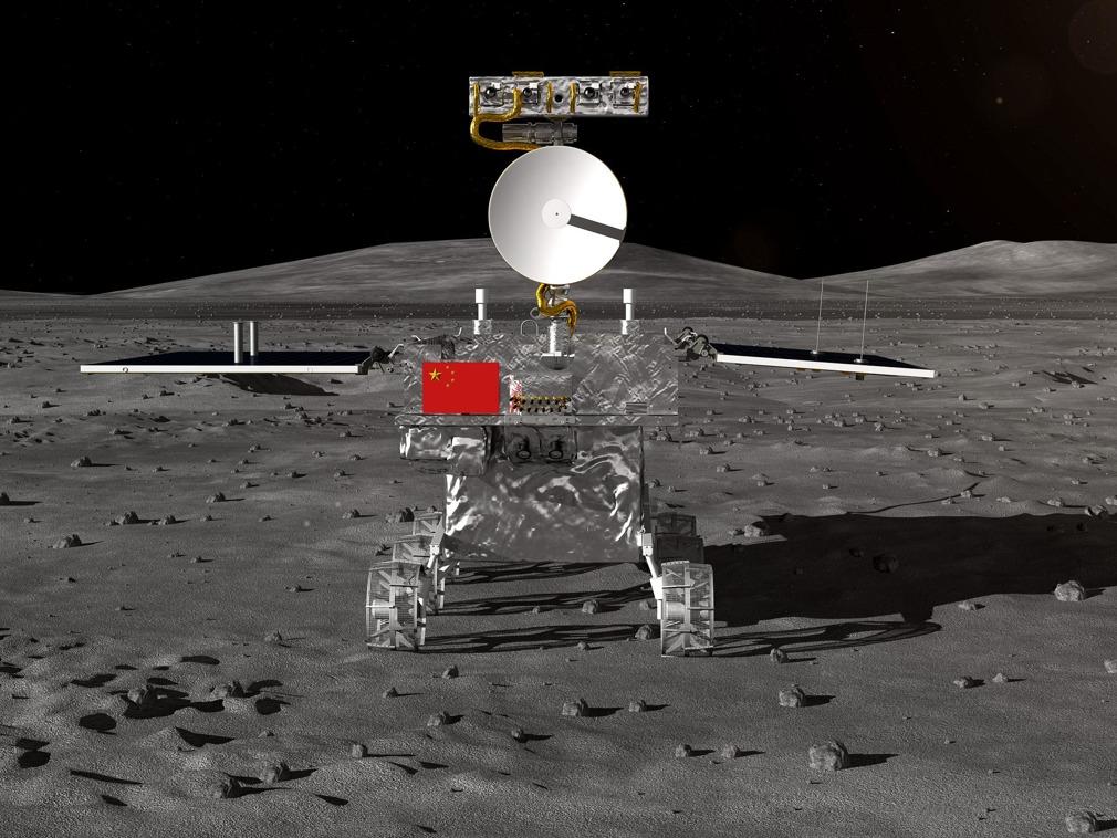 Explorador lunar chino recorre 565,9 metros en la Luna