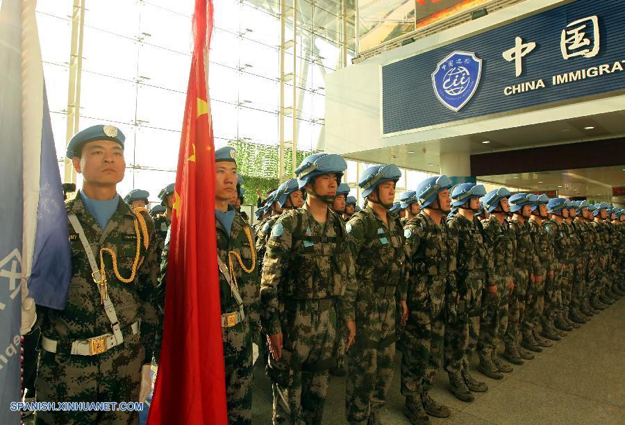 China envía 350 efectivos de mantenimiento de paz a Sudán del Sur