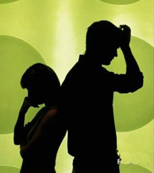 Image result for silhouette of couple breaking up