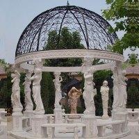 Large pure white marble custom made luxury gazebo for