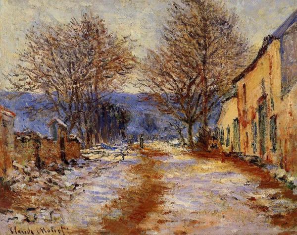 Snow Effect Limetz - Monet Oil Painting Reproduction